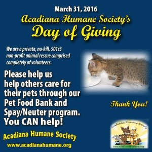 March 31 Day of Giving